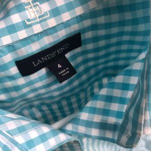 Talbots Turquoise Button Down Oxford Shirt/Blouse